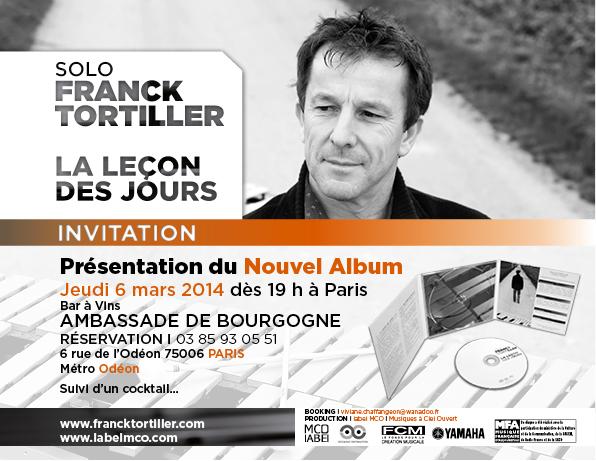 Invitation présentation nouvel album Franck Tortiller